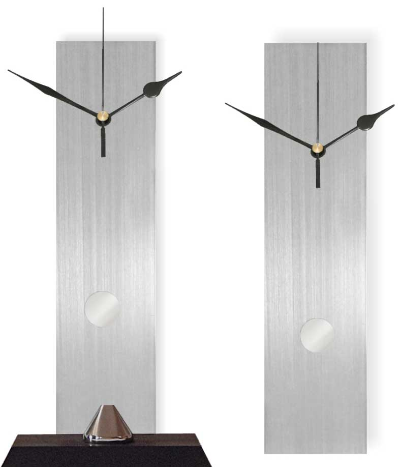 Aluminum Pendulum Wall/Tabletop Clock